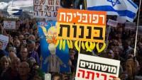 Netanyahu'ya Tel Aviv'de yolsuzluk protestosu