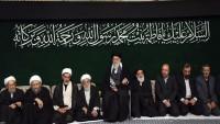 Hz. Fatıma sa. yas merasimi dün akşam da İslam inkılabı rehberinin katılımıyla düzenlendi