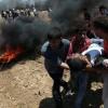 Filistinlilerin dünkü gösterilerinde bir kişi şehit olurken onlarcası yaralandı