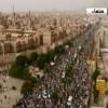 Yemen Halkı Başkent Sana'da Suudi rejimi aleyhinde milyonluk gösteri düzenledi
