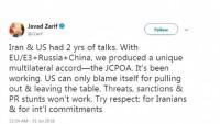 Zarif'ten Trump'a: İran'a tehdit ve yaptırım işe yaramaz