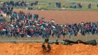 Büyük Dönüş Yürüyüşlerinin 28'inci Cumasında 3 Filistin'li şehit olurken 376'sı da yaralandı