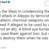 Zarif, Halep'teki kimyasal saldırıya sessiz kalan Batı'yı eleştirdi