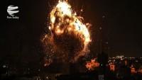 Terör rejimi İsrail helikopterleri Gazze'ye saldırı düzenledi