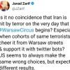 Zarif'ten terörist saldırı ve Varşova oturumuna tepki
