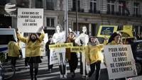 Paris'te Suudi rejimi protesto edildi