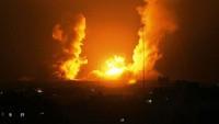 Siyonist İsrail Ordusu Gazze Şeridi'nde Direnişe Ait Alana Hava Saldırısı Düzenledi