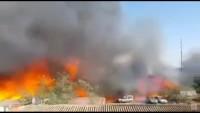 Video: Siyonist İsrail Alev Alev Yanıyor!