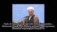 """Video: Ayetullah Rafsancani : Bizim Artık Tarihte Kalmış Bir Meselemiz Var: """" İlk Halife Kimdi?"""" Kimse Kimdi…."""
