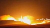 Yemen Hizbullahı Suudi Arabistan'ın Başkenti Riyad Bölgesindeki Melik Selman Hava Üssünü Burkan-2 Füzesiyle Vurdu