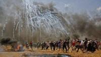Siyonist İsrail Savaş Uçakları Gazze Direnişçilerine Ait Gözetleme Kulesini Vurdu