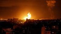 Siyonist İsrail Ordusu Gazze'ye Yönelik Kara, Hava Ve Deniz'den Saldırısı Yoğun Bir Şekilde Devam Ediyor. Siyonist Uçaklar Hamas Lideri İsmail Heniyye'nin Çalışma Ofisini Bombaladı