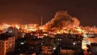 Siyonist İsrail Uçakları Gazze'nin Cebaliye Ve Hanyunus Bölgelerini Bombaladı