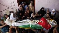 Şehid Filistinli Gencin Cenazesi Ailesine Teslim Edildi