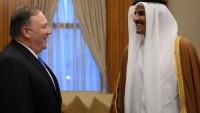 Katar Emiri Al sani, Pompeo ile bölgesel gelişmeleri görüştü