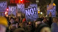 New York'ta Donald Trump karşıtı gösteri