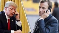 Trump ve Macron arasında telefon görüşmesinde İran'daki son gelişmeler ele alındı