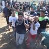 Siyonist İsrail güçleri Gazze sınırında 35 Filistinliyi yaraladı