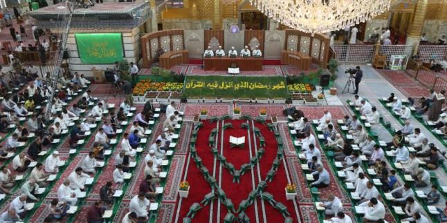 """Hz. Ebulfazl Abbas'ın (a.s) Türbesinde """"Kur'an Hatmi"""" Başladı"""