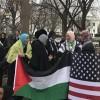 Washington'da binlerce kişi, Trump'ın Kudüs kararına tepki gösterdi