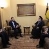 Emir Abdullahiyan, Seyyid Hasan Nasrullah ile Filistin'i görüştü
