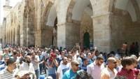 Cuma namazı sonrası Mescidi Aksa'da yürüyüş düzenlendi