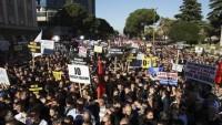 Arnavutluk muhaliflerinden erken seçim protestosu
