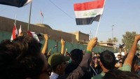 Bağdat'ta Türkiye büyükelçiliği önünde gösteri