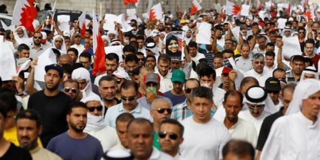 Londra'da, Bahreyn kralının İngiltere ziyareti protesto edildi