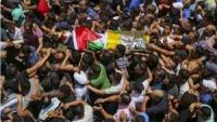 Binlerce Kişi Kalendiya Şehidini Son Yolculuğuna Uğurladı