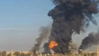 Suriye'de IŞİD'e ait cephane deposu havaya uçtu