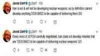 Cevad Zarif: İran, ABD'nin aksine iyi niyetle KOEP'in ruhu ve metnine bağlıdır