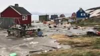 Deprem sonrası Grönland'ı tsunami vurdu