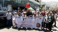 Beytlahim'de Açlık Grevindeki Filistinli Esirlere Destek Yürüyüşü Düzenlendi