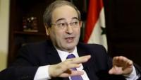 Faysal Mikdad: Batı yaptırımları direkt Suriye halkını hedef almıştır