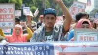 Filipin Halkı ABD'nin Kudüs kararını ve Gazze halkına Karşı İşlenen İsrail terörünü protesto etti.