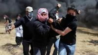 Siyonist İsrail güçlerinin saldırısında dün 86 Filistinli yaralandı