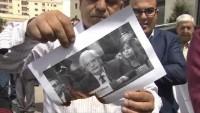 Filistinliler Ramallah'ta Haley ve Friedman'ın resimlerini yaktılar