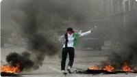 Filistinli Gençler İsrail Hedeflerine Molotof Kokteyli Attı