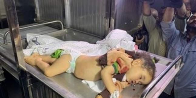 Siyonist İsrail Savaş Uçakları'nın Bir Evi Bombalaması Sonucu 1,5 Yaşlarında Bir Bebek Şehid Oldu, 3 Kişi de Yaralandı