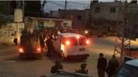 Siyonist İsrail Güçleri Nablus'un Irak Burin Beldesine Saldırı Düzenledi