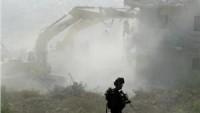 Siyonist İsrail Güçleri Ramallah'ın Batısında 9 Sanayi Tesisini Yıktı