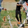 Siyonist İşgal Güçleri Balon ve Uçurma Gönderen Gençlere Füze Attı