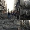Siyonist İsrail Savaş Uçaklarının Gazzeye Yönelik Barbarca Saldırısı Sürüyor. Sivil Ve Direniş Güçlere Yönelik Binalar Bombalandı. Maddi Hasar Var