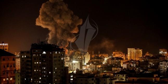 Siyonist Savaş Uçakları Direnişçilere Ait Hedefleri Bombaladı