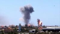 Siyonist İsrail Savaş Uçakları Direniş Güçlerine Ait Askeri Hedefleri Bombaladı