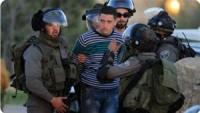 Siyonist İsrail güçleri, Batı Şeria'da 12 Filistinliyi gözaltına aldı