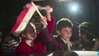 Foto; Siyonist Tekfircilerin Elinden Kurtulan Halep Halkı, Kutlama Yaptı…