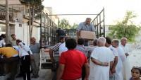 Hama Kırsalında Terörden Zarar Gören Ailelere Gıda Yardımları Dağıtıldı