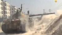 Video: Suriye Bayrağı teröristlerden temizlenen Haseke'de göndere çekildi